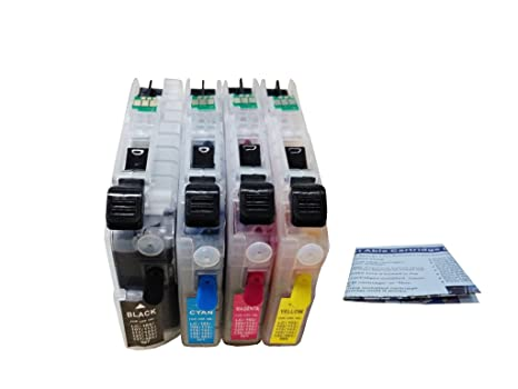 ND® LC101 LC103 LC105 LC107 Refillable Ink Cartridges with Auto Reset Chips  for Brother MFC-J285DW, MFC-J4310DW, MFC-J4410DW, MFC-J4510DW,