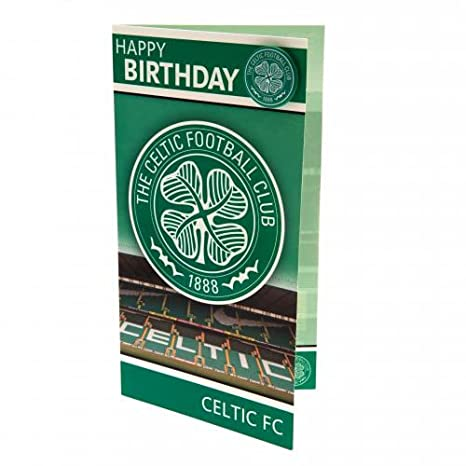 A Great Birthday Gift Idea For Men And Boys Celtic FC Official Football Gift Birthday Card And Badge