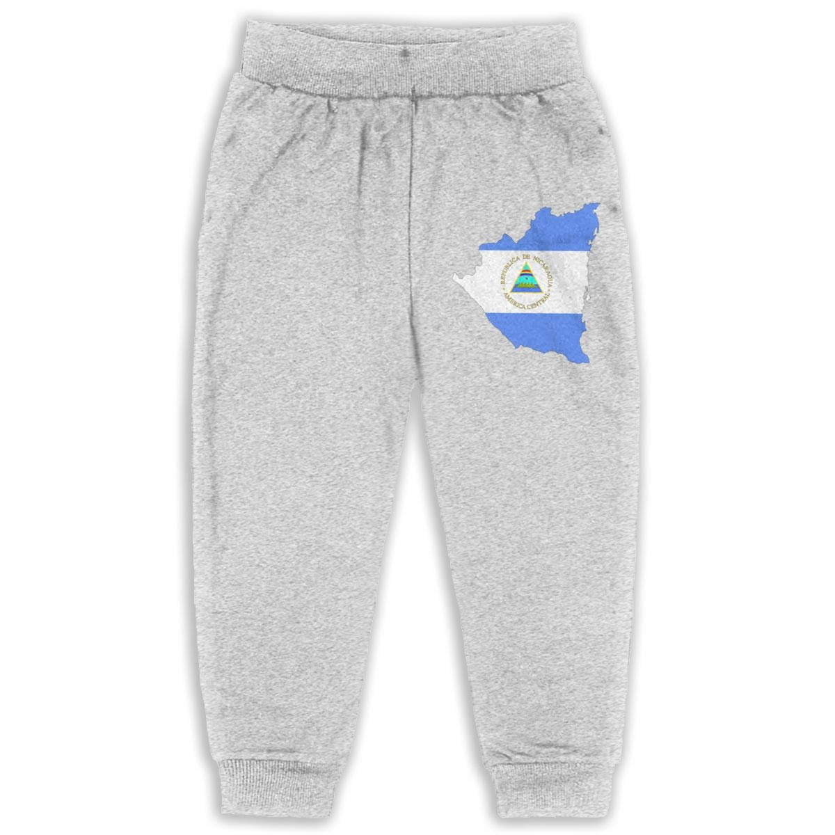 Fleece Active Joggers Elastic Pants DaXi1 Nicaragua Sweatpants for Boys /& Girls
