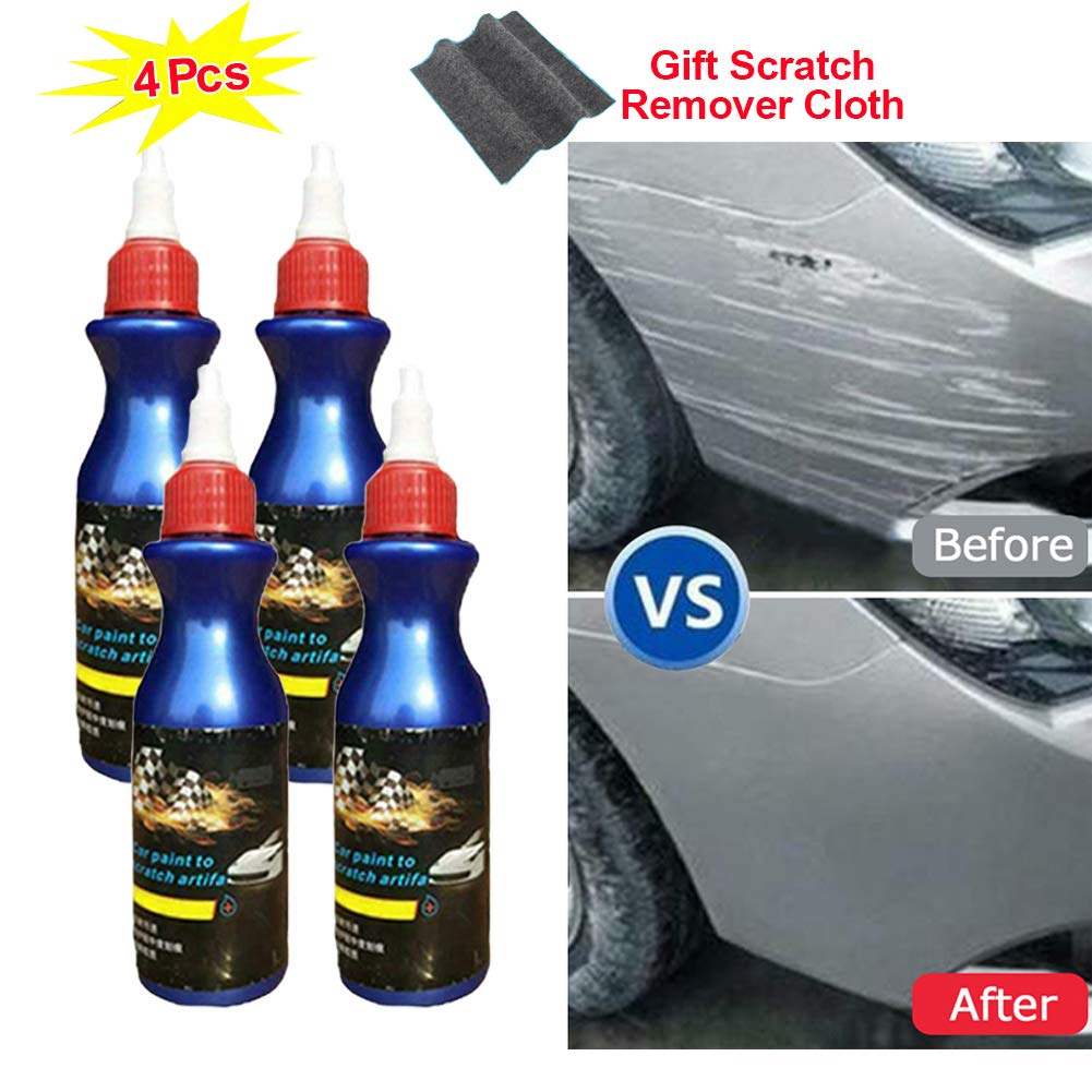 4 Pack 2019 New One Glide Scratch Remover - Polishing Paint Restorer, Easily Repair Paint Scratches, Light Scratches,Free Gift 1Pc scratch remover cloth Scratches