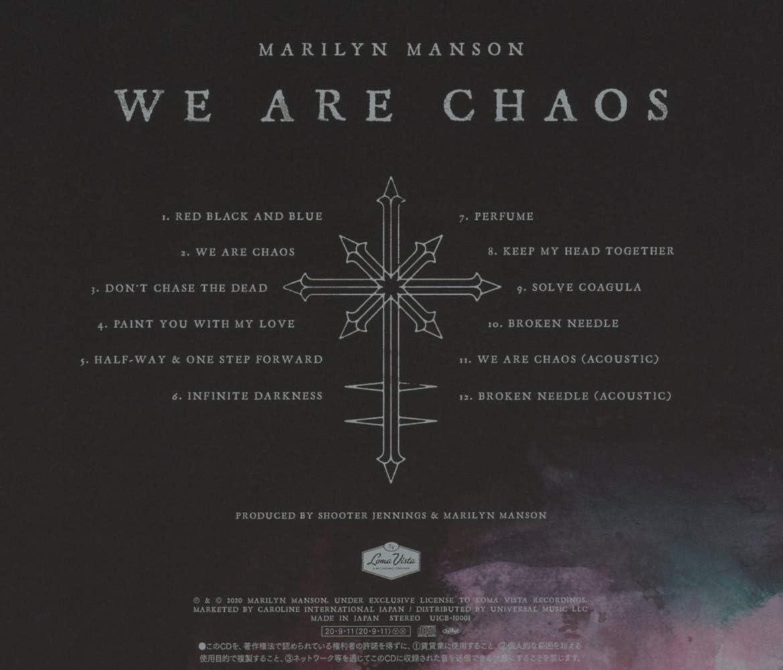 Amazon | WE ARE CHAOS | マリリン・マンソン | ロック | 音楽