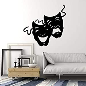 Masks Comedy Tragedy Theater Decor Wall Mural Vinyl Decal Art Sticker M383
