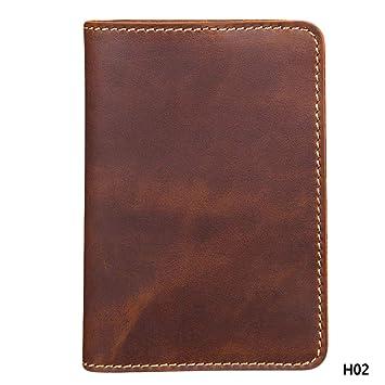 347ec3913c93 Amazon.com: DHmart Leather Long Wallet Passport Cover Business Men ...