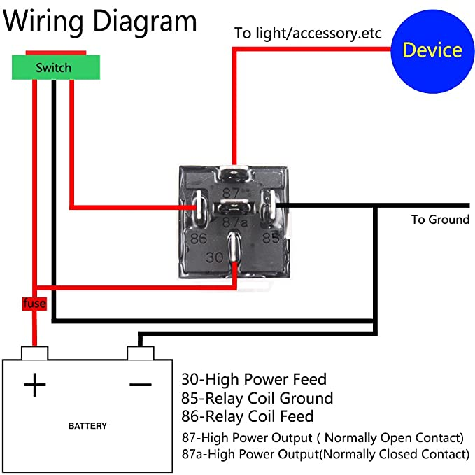 Artgear jd1914 12v 40a car relay with harness sockets 5 pin spdt artgear jd1914 12v 40a car relay with harness sockets 5 pin spdt relay with color labeled wires for automotive truck van motorcycle boat pack of 2 asfbconference2016 Choice Image
