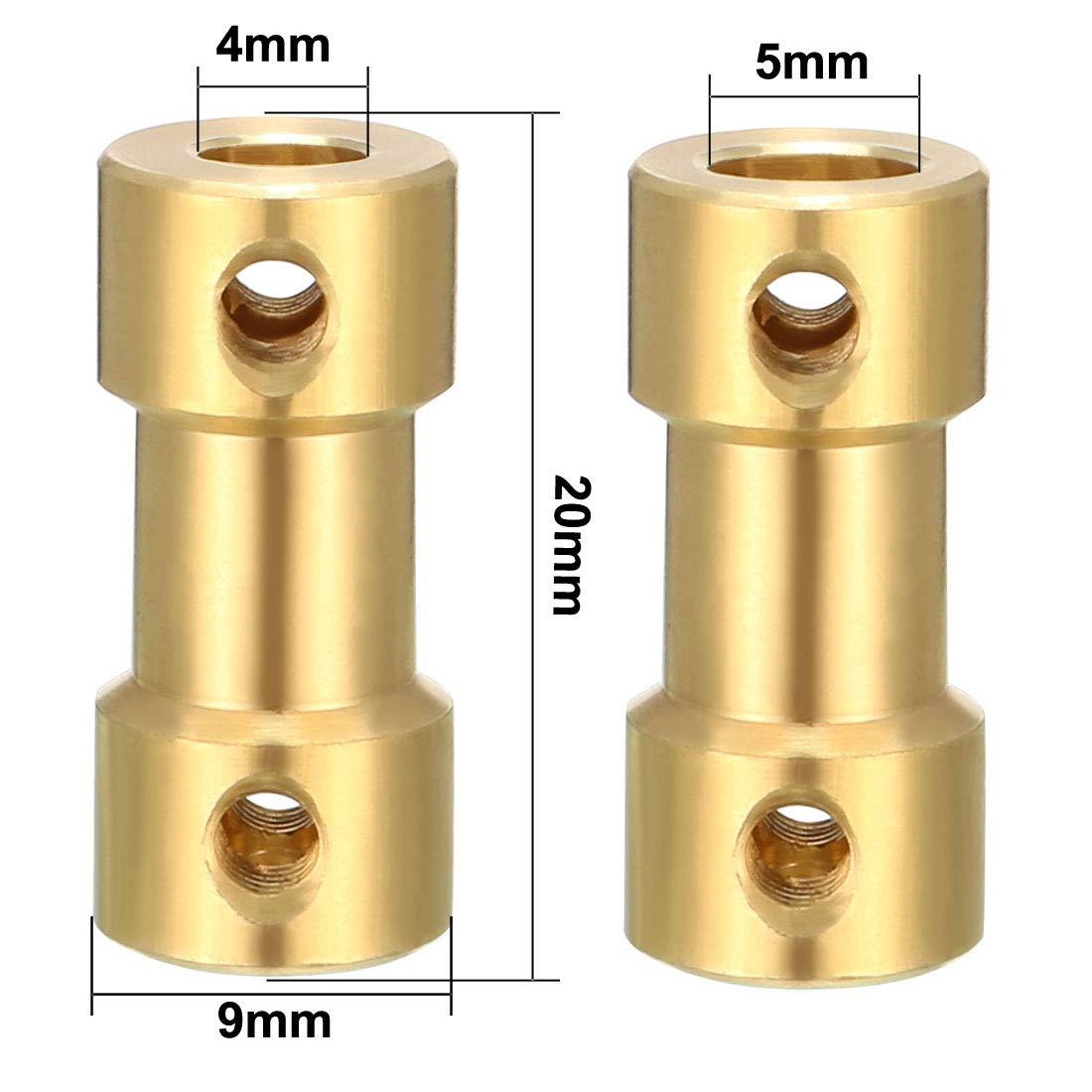 Sourcing Map v/ástago el/éctrico 3,17/mm x 4/mm Conector Adaptador para RC Avi/ón Barco Motor L25/X D10