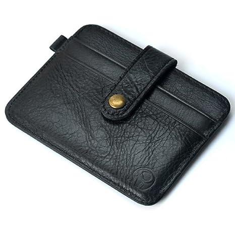 Ularma 2016 Moda Tarjeta de crédito Slim soporte Mini cartera ID caso monedero bolso bolsa (negro)