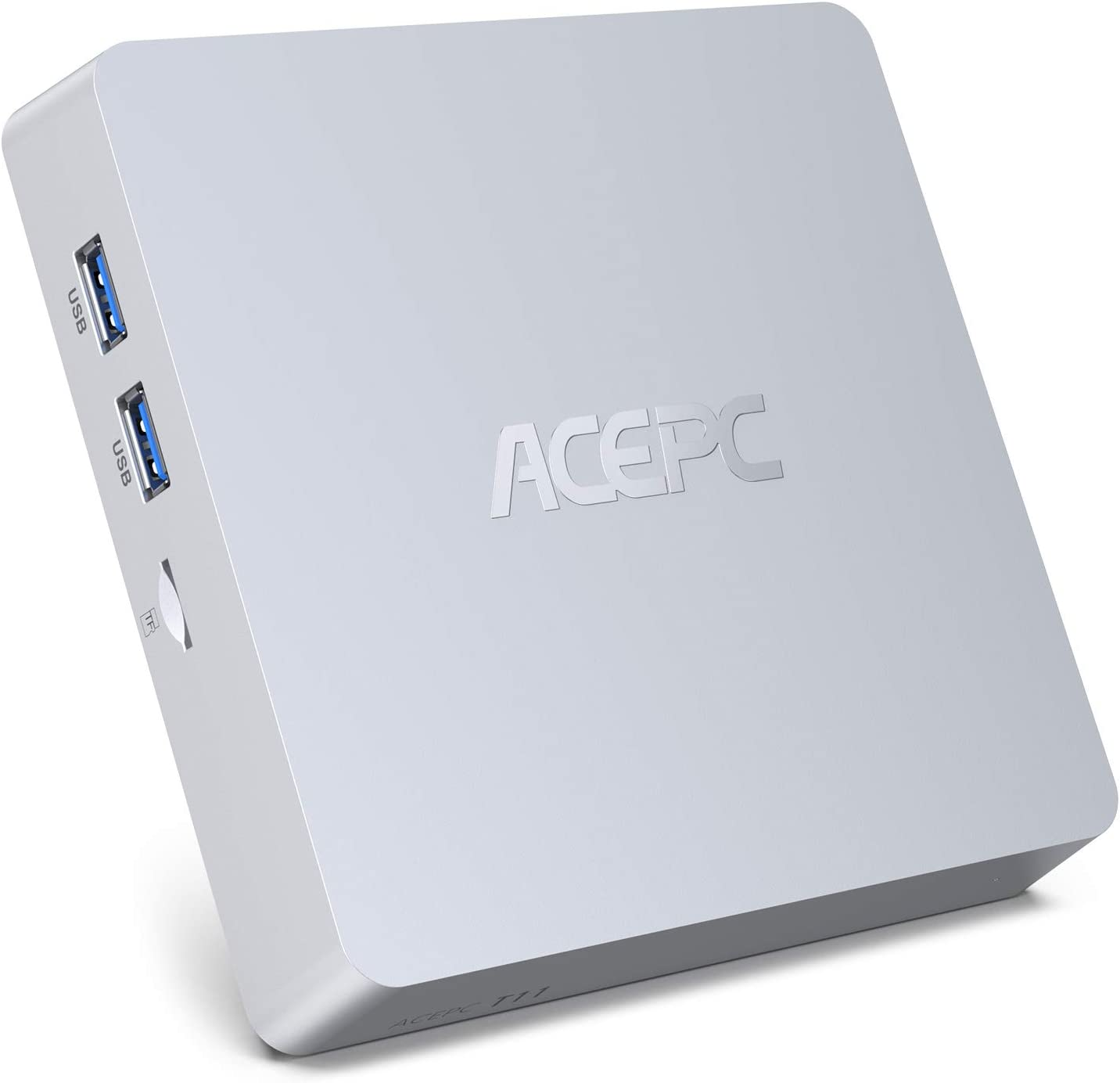 Mini PC,Windows 10 Pro Intel Atom Z8350 Mini computadora sin ventilador Computadora de escritorio de 8GB DDR3/128GB eMMC compatible con 4K HD,Salida HDMI + VGA, WiFi 2.4G/5G,Gigabit Ethernet,Bluetooth