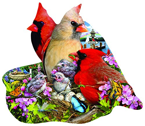 Spring Cardinals Shaped 800 Pc Jigsaw Puzzle by SunsOut