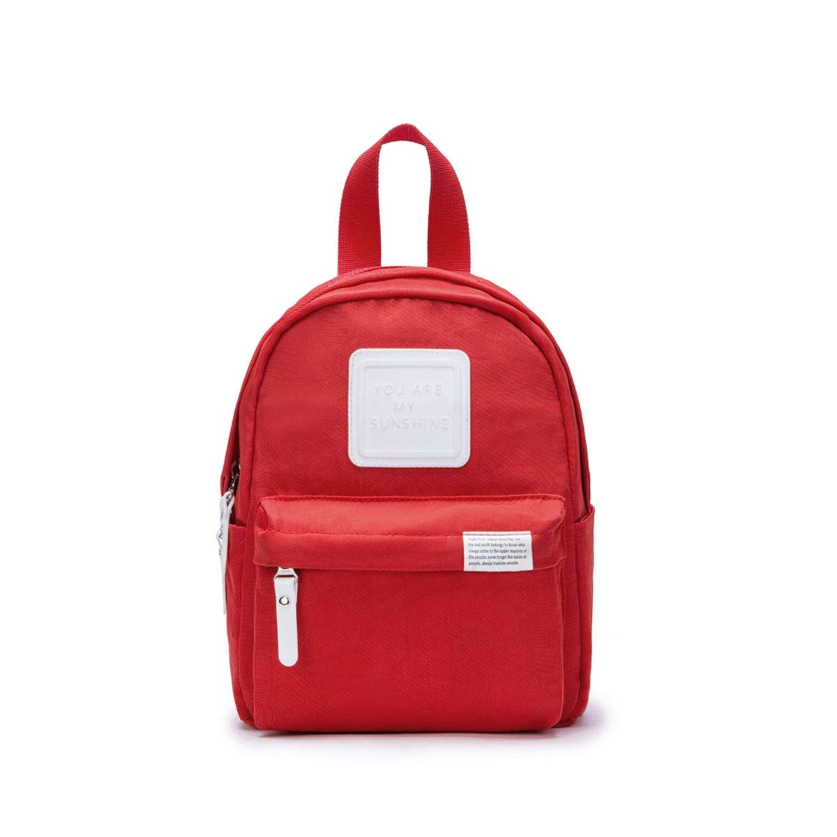 TONGBOSHI Backpack Female College Student Leisure Travel Bag, Small Fresh Backpack Campus Bag Male Fashion Trend (Color : Red)
