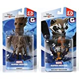 Disney INFINITY Marvel Super Heroes (2.0 Edition) - Groot and Rocket Raccoon Figures from Guardians of the Galaxy Bundle…