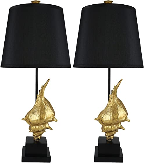 Urbanest Set of 2 Conch Table Lamps
