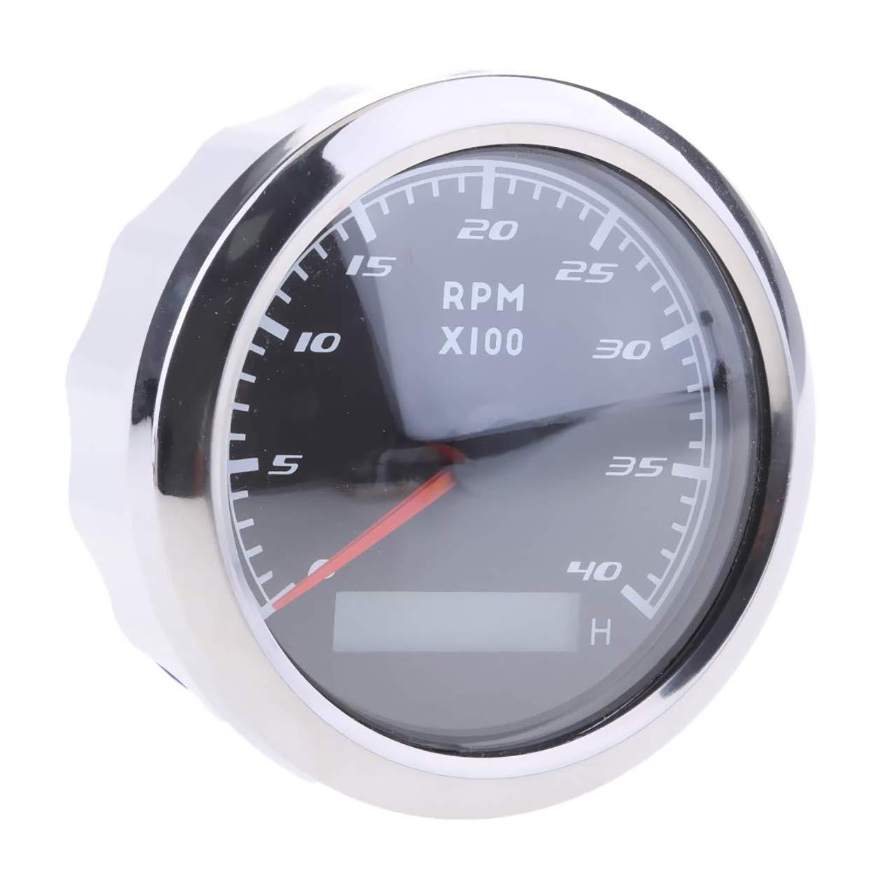 Morning May Tachimetro Contaore 0-4000 RPM LCD 9-32 VDC Contachilometri Contagiri Barca