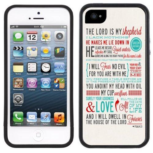 Der Herr ist mein Hirte Bibel | Christlich | Handgefertigt | iPhone 5 5 s | Schwarze Hülle