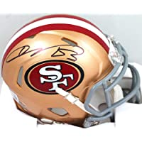 $85 » Vernon Davis Autographed SF 49ers Speed Mini Helmet- Beckett W Black
