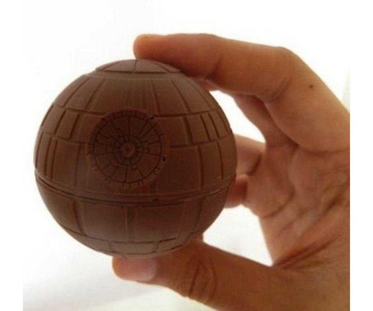 en Bleu Chocolat Forme/ Silicone Boule IMBS 3D Moule /à gla/çons Star Wars /Étoile de la Mort /Boules de Forme de gla/çons Ronde pour GE de Boules Boules de Bain Chocolat