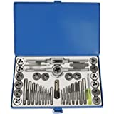 CSLU 39PCS Hardened Metric Tap and Die Bit Set, Screw Thread Taper Drill Tool Kit