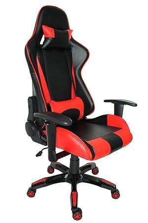 Racing Estilo Gaming silla ergonómica oficina ejecutiva silla de respaldo alto): ordenador giratorio silla de oficina w/reposabrazos, proht: Amazon.es: ...