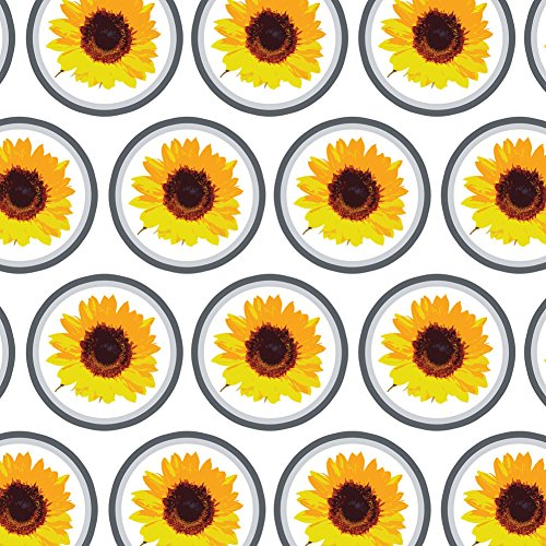 (Premium Gift Wrap Wrapping Paper Roll Celebration Party Shower - Sunflower Shower)