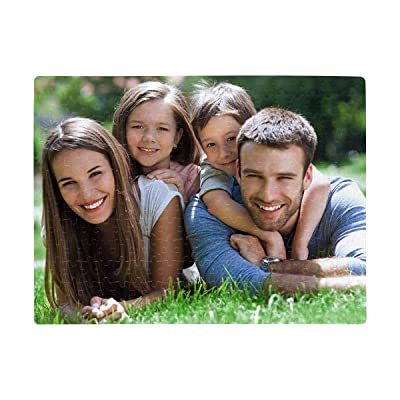 Custom Picture Puzzle Happy Family Outdoors Rectangle Jigsaw Puzzle A3 Size 252 Piecess Children Art DIY Leisure Game: Toys & Games