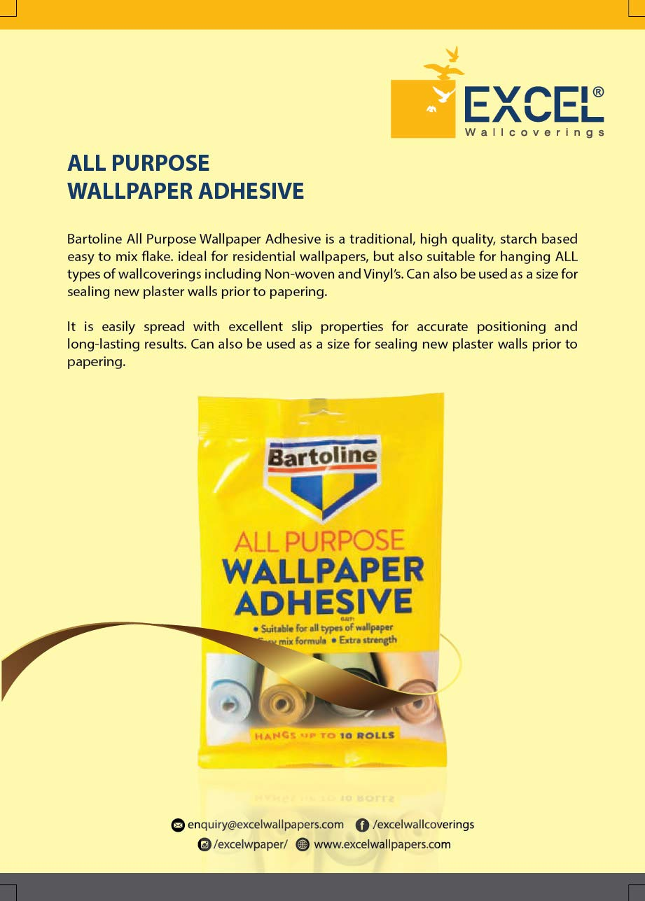 Excel Wallpapers Bartoline All Purpose Wallpaper Adhesive Made In