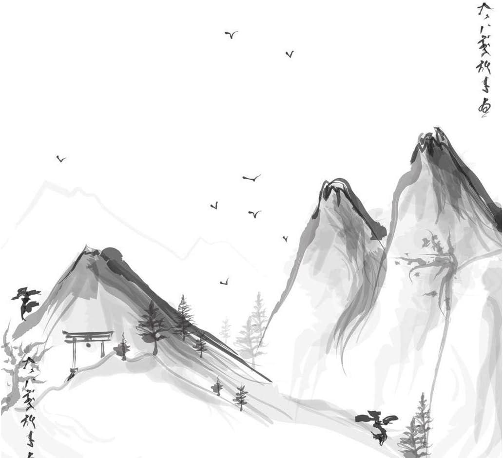 Abstrakte Tusche Landschaftsmalerei Tapete Chinesische Art Tuschemalerei