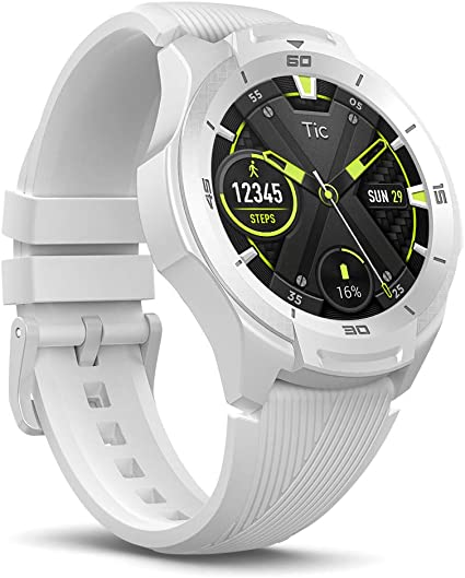 Ticwatch S2 Waterproof Smartwatch with Build-in GPS for Outdoor Activities, Wear OS by Google, Compatible with Android and iOS (White)