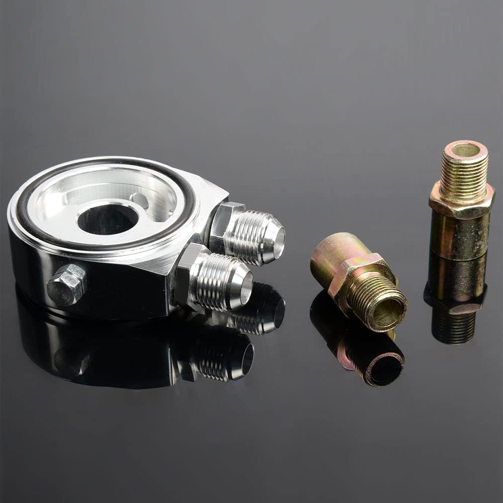 Oil Filter Adapter Kit 16 Row 10AN-10AN Universal Engine Transmission Oil Cooler Kit