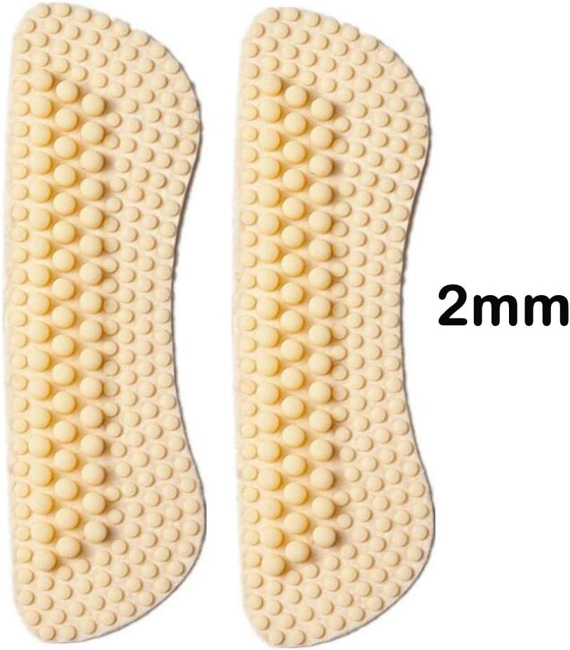 Barhalk 1 Pairs 4D Massage Anti-Blister Heel Cushions Silicone Heel Pads for Womens and Mens,Foot Care Protector,High Heel Inserts Anti-Slip Heel Grips Liner,Self-Adhesive Shoe Insoles