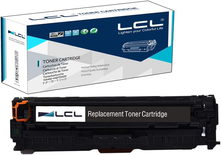 LCL Remanufactured Toner Cartridge Replacement for HP 304A 312A 312X CF380A CF380X CC530A High Yield M476dn MFP/M476dw MFP/M476nw MFP CP2020/CP2025/CM2320 (1-Pack Black)