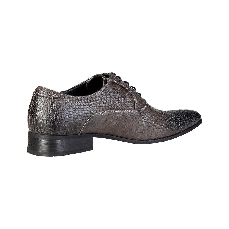 Pierre Cardin Men's M71292 Leather Oxford Lace-Up Croc Print: Amazon.co.uk:  Shoes & Bags