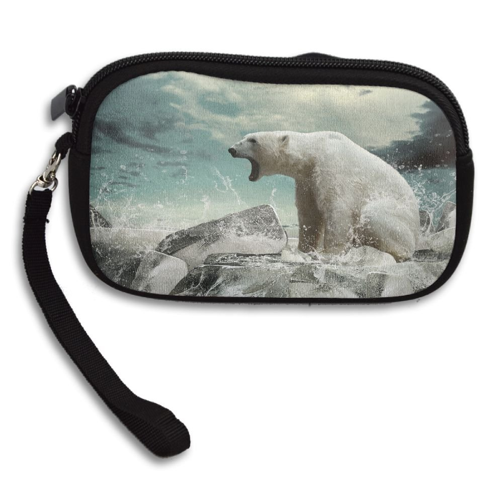 Ice Drop Of A Polar Bear In The Water Deluxe Printing Small Purse Portable Receiving Bag
