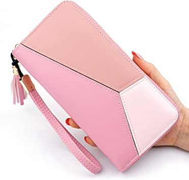 Women Leather Clutch Long Cute Bifold Wallet Ladies Handbag Card Holder Purse