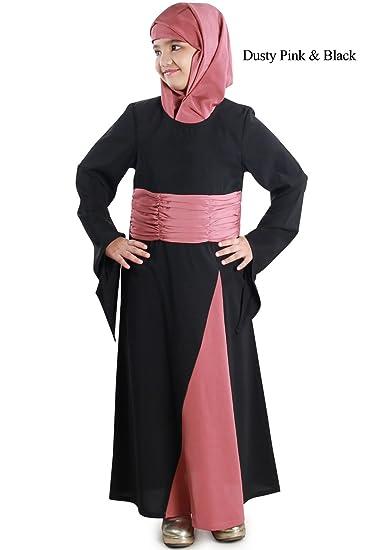 9acd7289902 MyBatua Islamic Kid s Casual wear Abaya Burqa Maxi Jilbab Gown Dress  AY-585-K