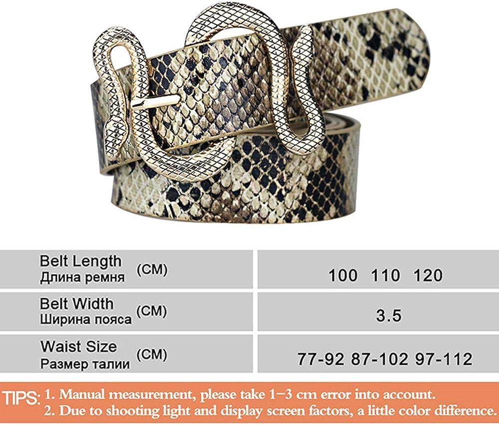 AMEET Ceintures Pour Femmes En Forme De Serpent Boucle En M/étal Boucle Ardillon Boucle Motif Serpent Ceinture De Haute Qualit/é En Cuir Femmes Ceinture