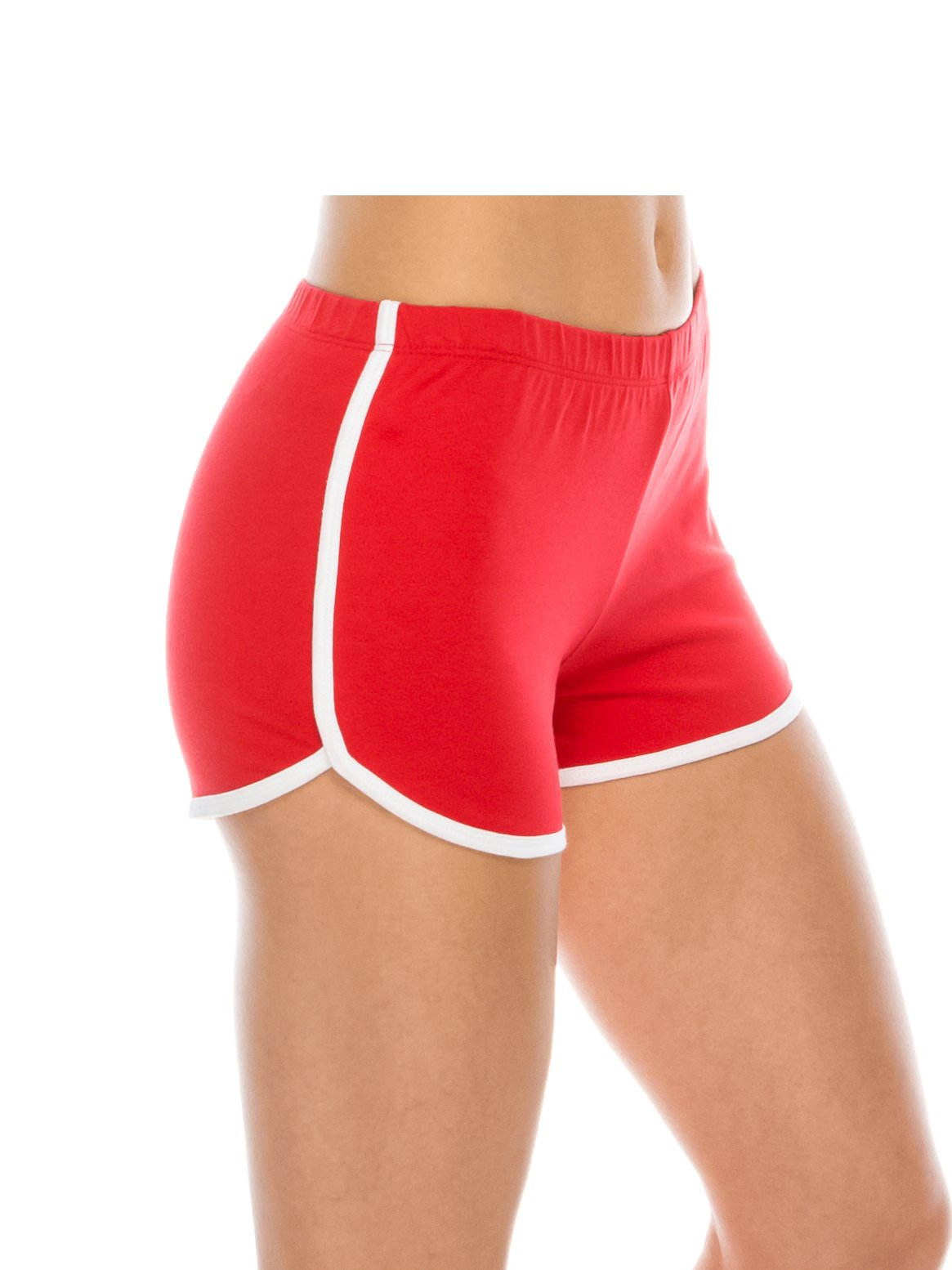 EttelLut Athletic Running Exercise Gym Yoga Booty Dolphin Shorts Red M by EttelLut