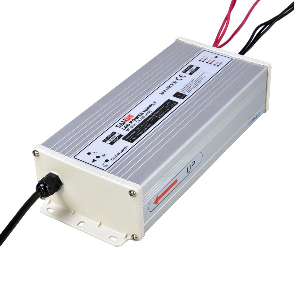 SANPU 5V Power Supply 60A 300W Constant Voltage 5VDC LED Driver Rainproof Outdoor Use 110V 120V AC-DC 5Volt Transformer Converter (SANPU FX300-H1V5)