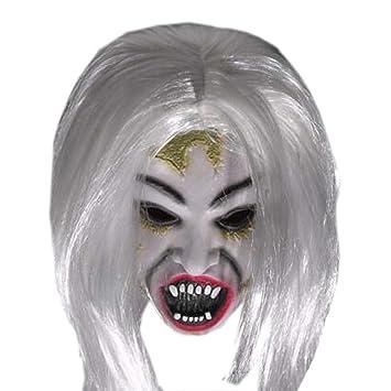 Máscara de miedo mascaras traje máscara de fantasmas cosplay mascaras terroristas de Halloween látex