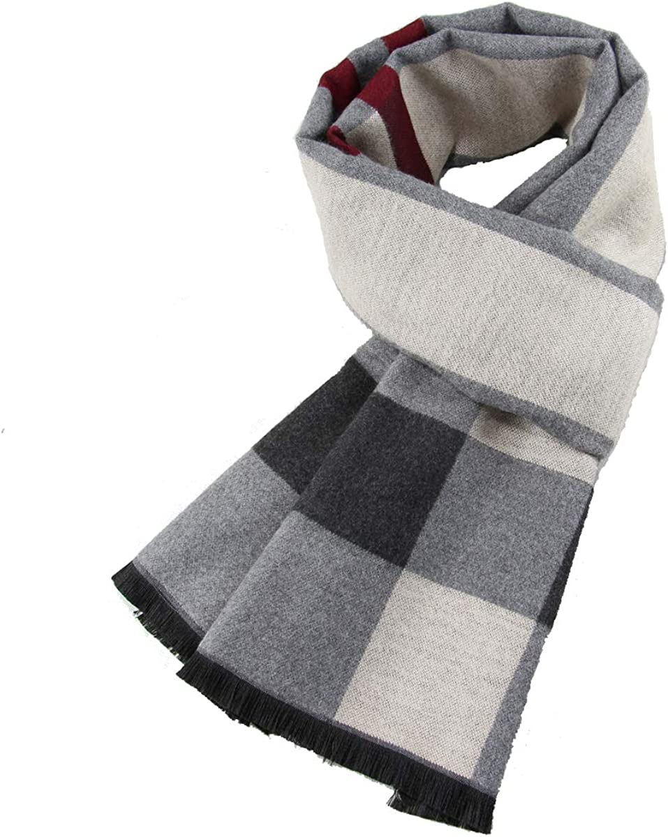Cotton Scarf Men Long Fashion Plaid Scarf Luxury Warm Autumn And Winter Scarves