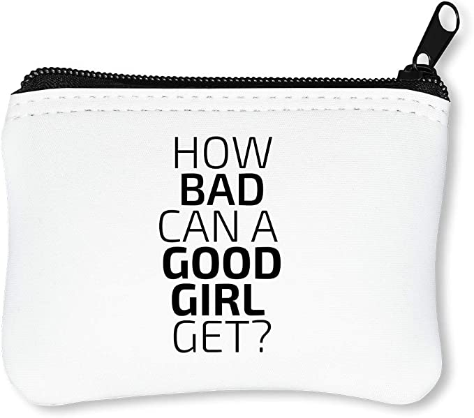 How Bad Can A Good Girl Get? Funny Black Fashioned College Life Slogan Billetera con Cremallera Monedero Caratera: Amazon.es: Equipaje
