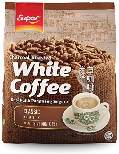 Super 3 in 1 White Coffee, Charcoal Roasted, 15-Count ()
