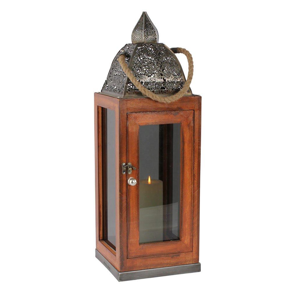 Albena shop 74-110 Assa orientalische Laterne Holz Glas (Gr.L 62 cm)