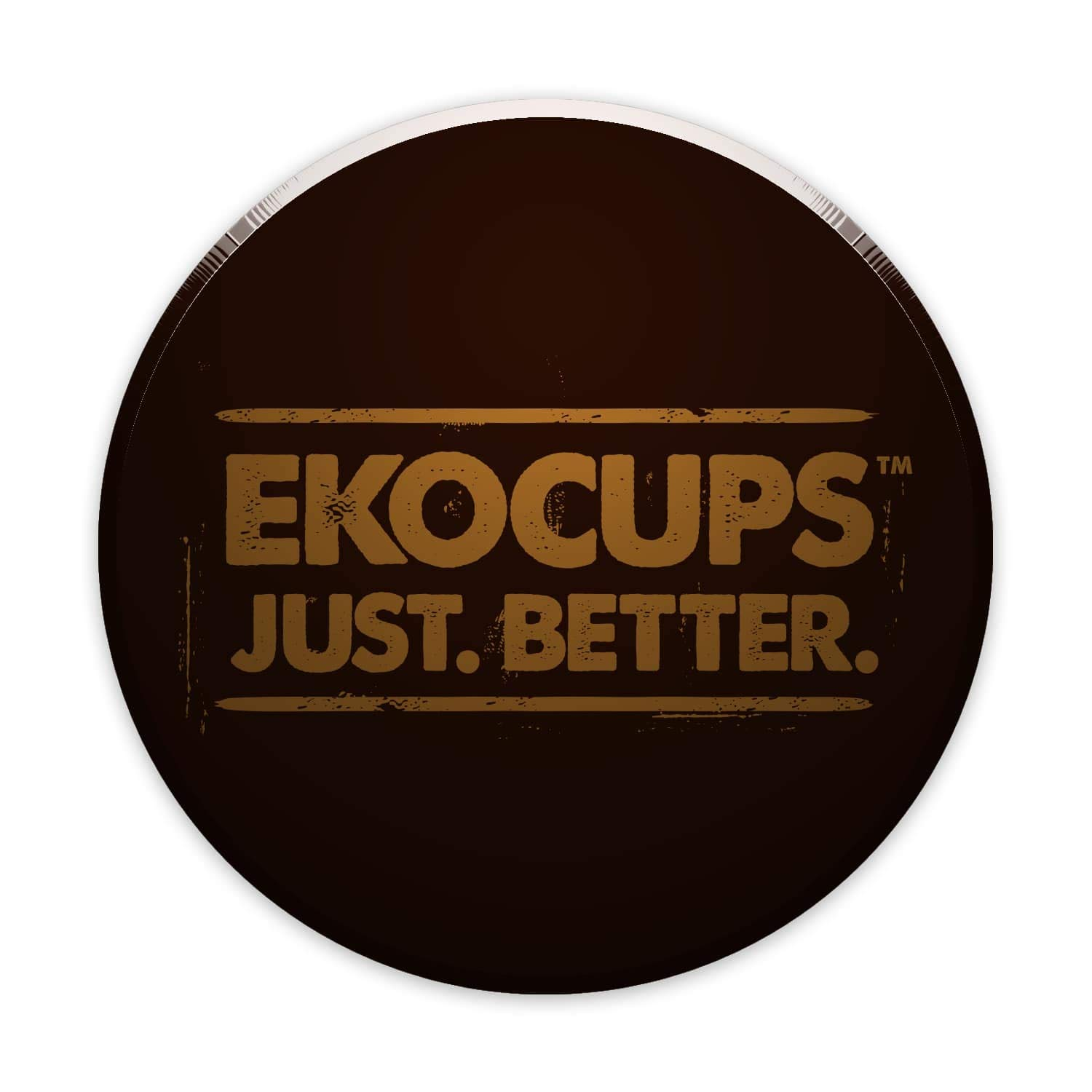 EKOCUPS Artisan Organic Dark Coffee, Dark Roast, in Recyclable Single Serve Cups for Keurig K-cup Brewers, 40 count by EKOCUPS