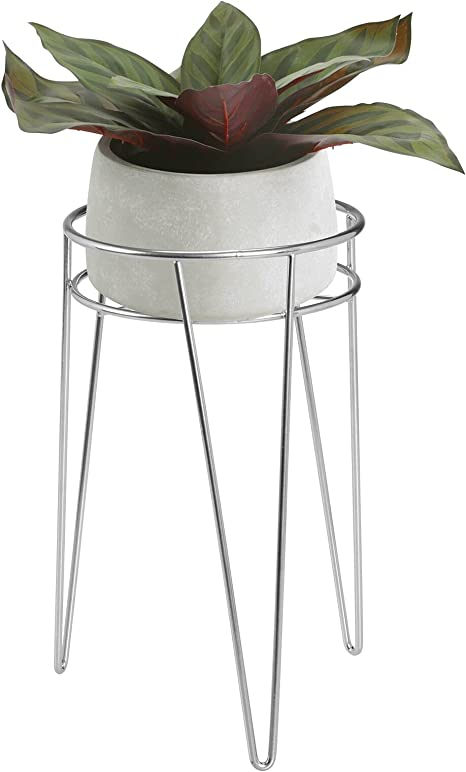 6,0 Mid Century Modern Hairpin leg Planter HEIGHT Black or White Architecture Pottery Plant Stand Flower Pot Retro Vintage