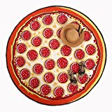 Funny Pizza Round Roundie Beach Blanket Table Cloth Beach Throw Tapestry 59 x 59 inch (Pizza) offers