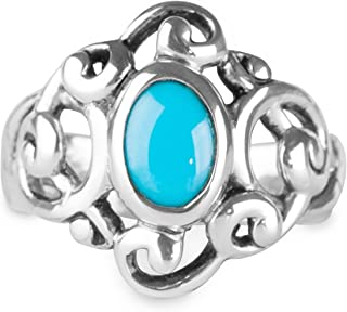 product image for Carolyn Pollack Sterling Silver Sleeping Beauty Turquoise Gemstone Sculptural Ring Size 5 to 10