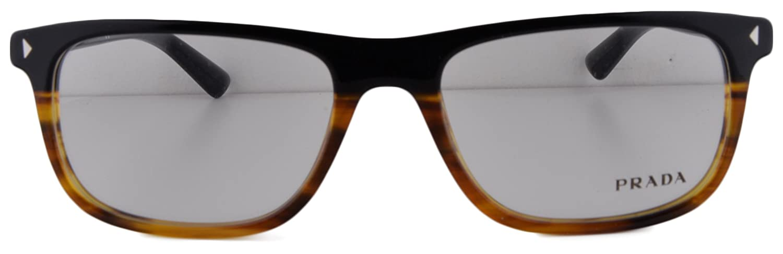 a8bde7a0d8e Prada PR 03RV Eyeglasses 55-18-145 Black Striped Havana TFJ-1O1 PR03RV For  Women (FRAME ONLY)  Amazon.co.uk  Clothing