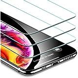 "ESR Protector Pantalla iPhone XS/X [3 Piezas] [Fácil de Instalar] [Garantía de por Vida], Cristal Templado 9H Dureza [3D Touch Compatible], Anti-Huella para iPhone XS/iPhone X de 5.8"""