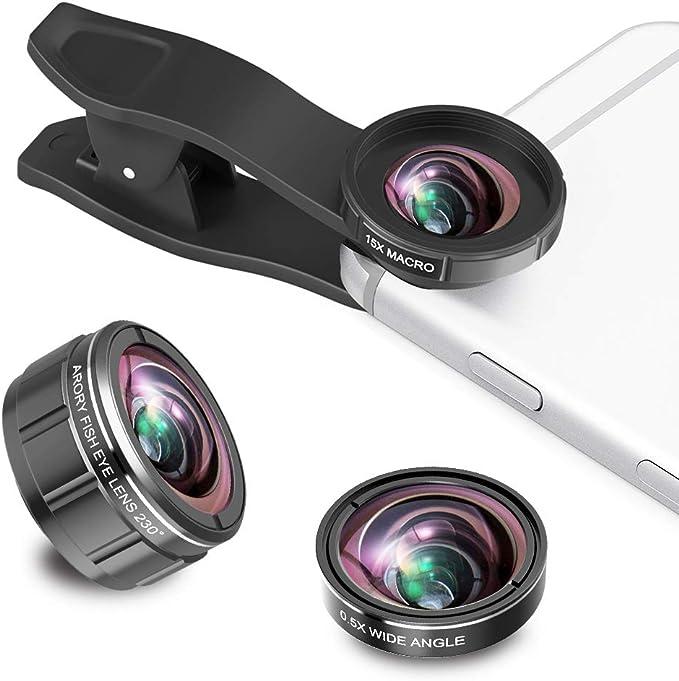 ARORY Kit de Lentes para cámara de Smartphone, Lente Ojo de pez de ...