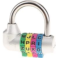 4 Letter Resettable Combinatieslot voor de Gym Locker Sportschool, Locker, Gate, Toolbox, Opbergkoffer, Hasp