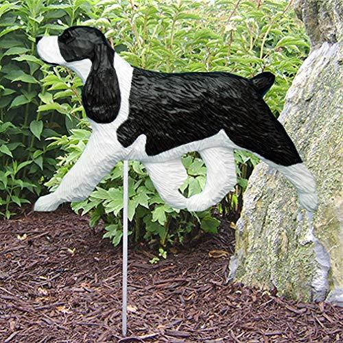 - Ky & Co YesKela English Springer Spaniel Outdoor Garden Dog Sign Hand Painted Figure Black